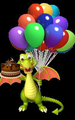 Dragon ballons et gâteau d'anniversaire, parc Fantassia, à voir à faire, département 66